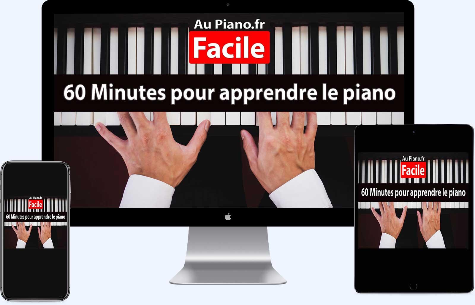presentation cours de piano sur pc tablette telephone