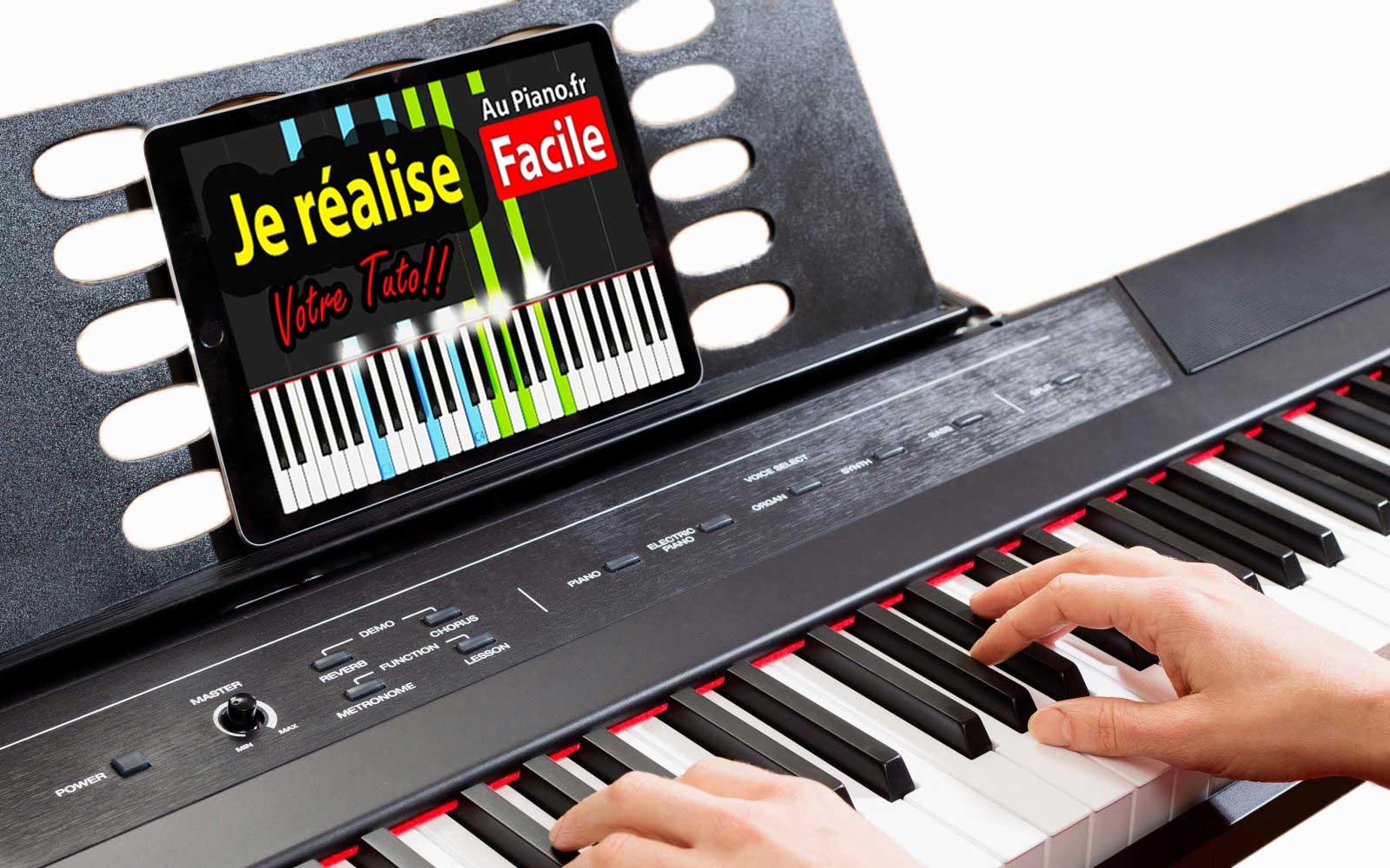 apprendre à jouer du piano avec une vidéo